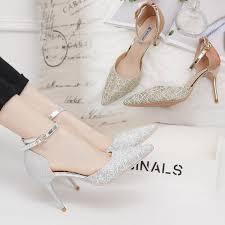 <b>Women's</b> small silver <b>high heels 2019</b> spring and summer new <b>sexy</b> ...