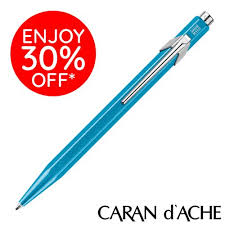 <b>Caran D'Ache</b> type '849' Ballpoint Pen – <b>POPLINE</b> - <b>Metal</b>-<b>X</b> ...