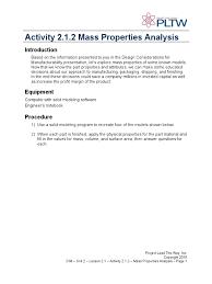 a masspropertiesanalysis