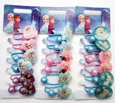 <b>6pcs</b>/lot <b>Disney Frozen</b> cartoon princess children doll hair clip head ...