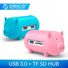 <b>Orico</b> litte porco hub tudo em 1 alta velocidade usb 3.0 hub 3 portas ...