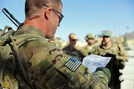u s department of defense photo essay u s army sgt william russell front conducts a mission brief before departing forward