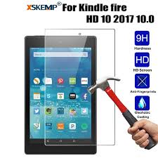 XSKEMP <b>9H Tempered Glass For</b> Amazon Kindle fire HD 10 2017 ...