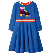 Flamingo Embroidered Princess <b>Dress 2019</b> Designer Kids <b>Clothes</b> for