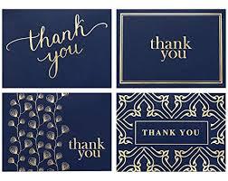 100 Thank You Cards Bulk - Thank You Notes, Navy ... - Amazon.com