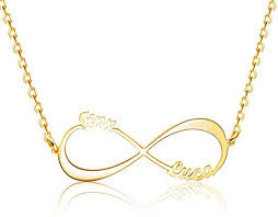 TinyName Infinity Name Necklace <b>Personalized</b>, <b>925 Sterling Silver</b> ...