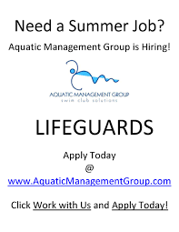 looking for a summer job aquatic management group has got you looking for a summer job aquatic management group has got you covered peak student media