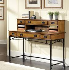 natural wood top modern secretary desk with hutch and metal base amazing executive modern secretary office desk