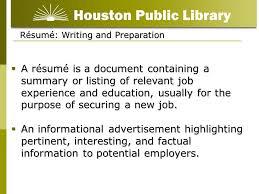 résumé writing for beginners  résumé  writing and preparation a    résumé  writing and preparation a résumé is a document containing a summary or listing of