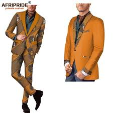 <b>2018 spring&autumn africa print</b> casual suit for men full sleeve ...