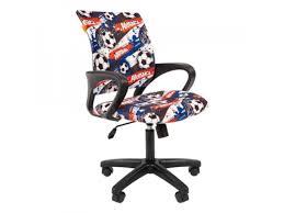 Купить <b>компьютерное кресло Chairman</b> Kids 103 футбол, черный ...