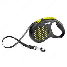 <b>Рулетка Flexi</b> Compact <b>Design</b>, <b>S</b>, до 15 кг, 5 м, желтый горошек ...