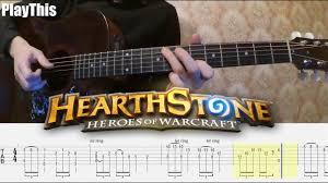 Как играть Hearthstone на гитаре + ТАБУЛАТУРА | Уроки гитары ...