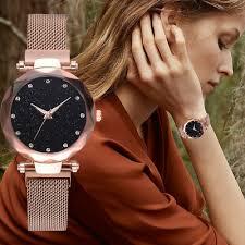 <b>Luxury</b> Women <b>Starry Sky Watch</b> Quartz Stainless Buckle Crystal ...