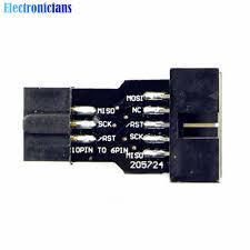 <b>5Pcs</b>/Lot <b>10Pin to</b> 6Pin Adapter Board For AVRISP MKII USBASP ...