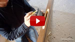 Врезка дверного замка своими руками - YouTube