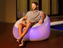 <b>Надувное кресло</b> с подсветкой Luxury OutDoor 102x97x71см ...