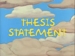 Thesis Statement Throwdown    Thesis statement More