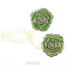 Зажимы для штор Роза зеленые - Агрономоff