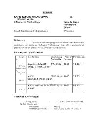 Resume Samples For Freshers B     BNZY happytom co        A resume format