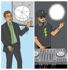 moonlighting at other jobs makes your employees more creative employee giving business presentation and also djing