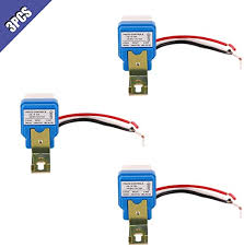 Ximimark <b>3Pcs</b> 12V 10A <b>Light Sensor</b> Switch Auto On Off Dusk ...