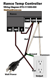 how to wire a ranco digital temperature controller 120v ranco digital temperature controller wiring diagram