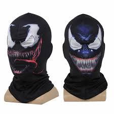 <b>Venom Spiderman Mask</b> Cosplay Black <b>Spiderman</b> Edward Brock ...