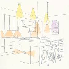 kitchens call for a more complex lighting plan because so much happens in the room add task lighting