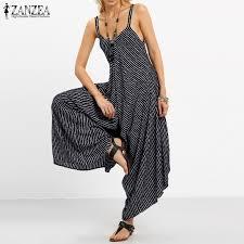 2019 ZANZEA Rompers Womens Jumpsuit <b>Sexy Strapless</b> Casual ...