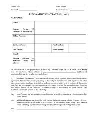 ontario renovation contract legal forms and business templates picture of ontario renovation contract