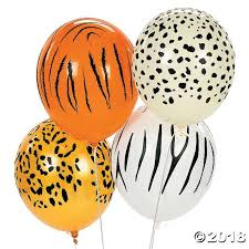"Jungle Animal Print 11"" Latex <b>Balloons</b> 