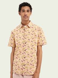 <b>Printed short</b>-<b>sleeved</b> Hawaiian shirt | Shirts | Scotch & Soda