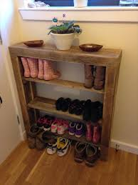 diy reclaimed pallet wood shoe rack bedroomeasy eye upcycled pallet furniture ideas