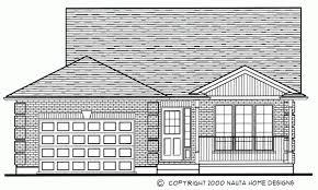 Bedroom Backsplit House Plan BS   Sq FeetBacksplit House Plan BS Floor Plan Backsplit House Plan BS Front Elevation