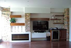 furniture living room marvelous brick stone wall tv panel design excerpt floating media shelf contemporary home charming office craft home wall