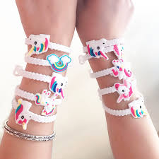 <b>10pcs</b>/lot <b>Unicorn</b> Party Rubber Bangle Bracelet Birthday Party ...