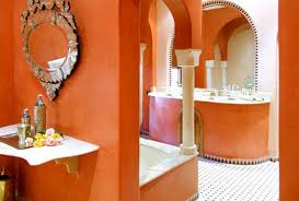 bathroom paint colors behryellow moroccan bathroom decorating with cream and orange wall paint colors c
