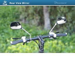 Deemount <b>1 Pair Bicycle</b> Rear View Glass Mirror <b>Bike Handlebar</b> ...