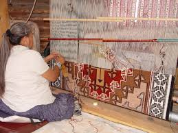 Image result for weaving on a loom