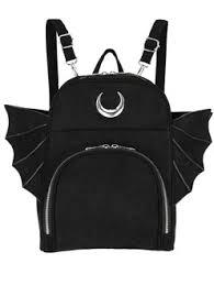 ELEGANT GOTH BACKPACK, gothic black <b>woman school backpack</b> ...