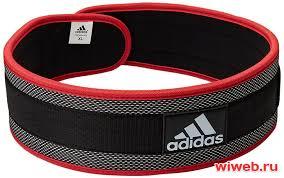 <b>Пояс тяжелоатлетический Adidas Nylon</b> Lumbar Belt (M) в ...