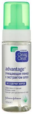 Clean & Clear Advantage <b>Очищающая пенка с экстрактом</b> алоэ ...