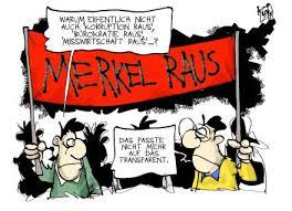 Bildergebnis für merkel krise karikatur