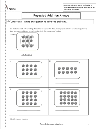 CCSS 2.OA.4 Worksheetsrepeated addition arrays worksheets