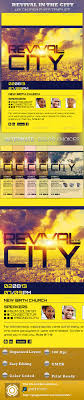 revival in the city church flyer template com revival in the city church flyer template