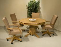 Dining Room Chairs With Arms And Casters Dining Room Sets With Chairs On Wheels Dining Chairs Design Ideas