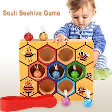 <b>Children Preschool Wooden</b> Bee Clip Out <b>Montessori Educational</b> ...