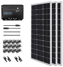 Renogy <b>300W</b> Monocrystalline Starter 3 Packs 100W <b>Solar Panels</b> ...