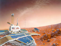 this artist s cheerful renderings of space exploration look like this artist s cheerful renderings of space exploration look like stills from the martian